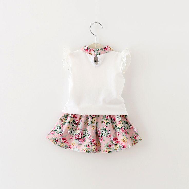 2016 New Baby Dress Infant girl dresses floral Print Baby Girls Clothes Slip Dress Princess Birthday Dress for Baby Girl