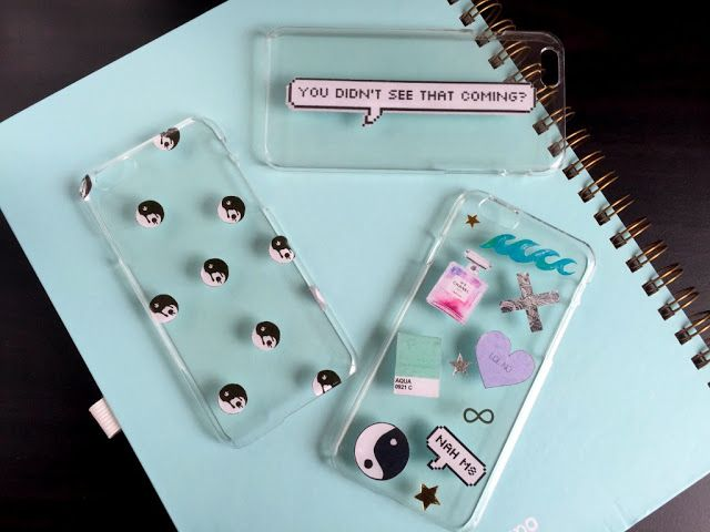 DIY tumblr inspired clear phone case