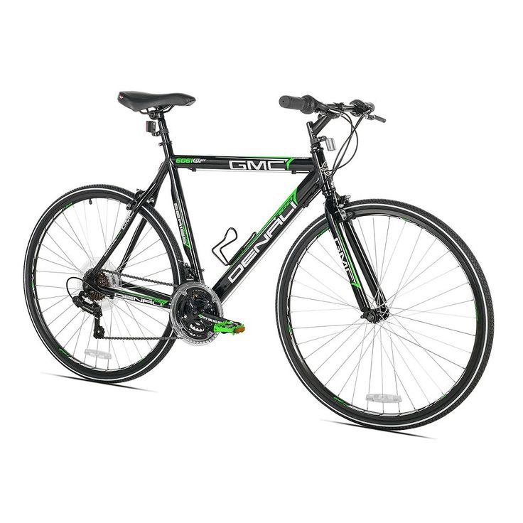 Men's GMC Small Frame 700c Denali Flat Bar Road Bike, Black