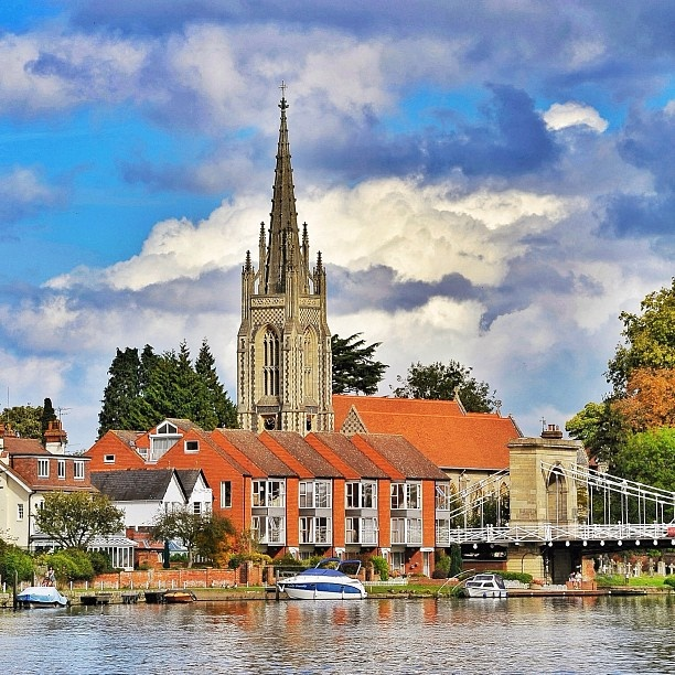 Marlow From The Thames England Where I Left 1 2 My