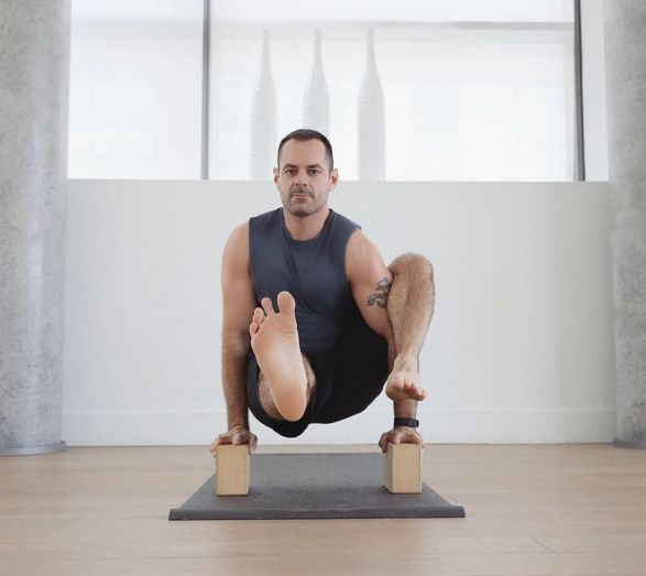 Michael Decorte on our grey #yoga mat.