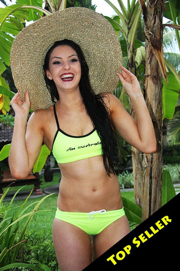 Slix, training bikini, fluoro, summer, best selller, chlorine resistant,swimming,surfing, triathlon