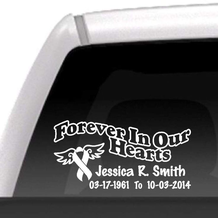 DecalsByUs.com - Forever In Our Hearts Cancer Ribbon Decal, $10.00 (http://www.decalsbyus.com/forever-in-our-hearts-cancer-ribbon-decal/)