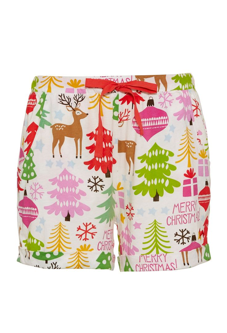 Merry Xmas Short With Hat Peter Alexander Pajamas