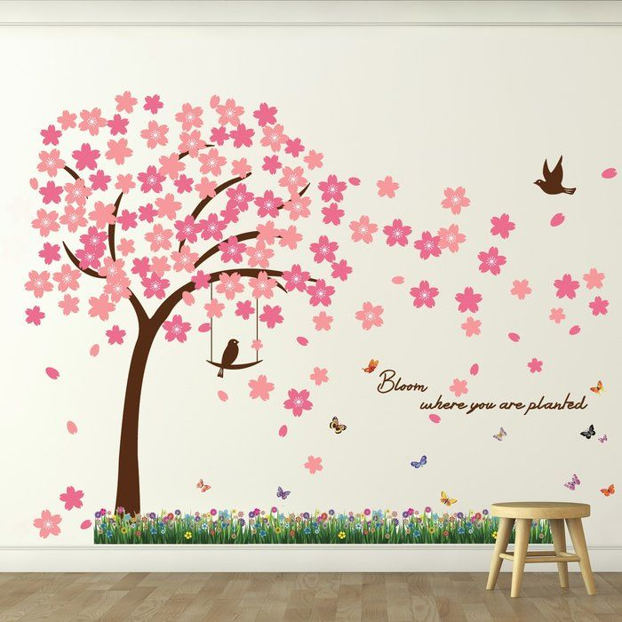Key Largo Spring Bloom Wall Decal In 2020 Flower Wall Decals