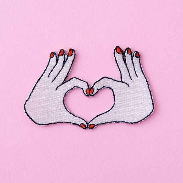 - Description - how to apply STYLE: love put your heart hands up! this sweet patch by cou cou suzette lets you flash the universal love sign wherever you go. fellow heart-hands flashers taylor swift a