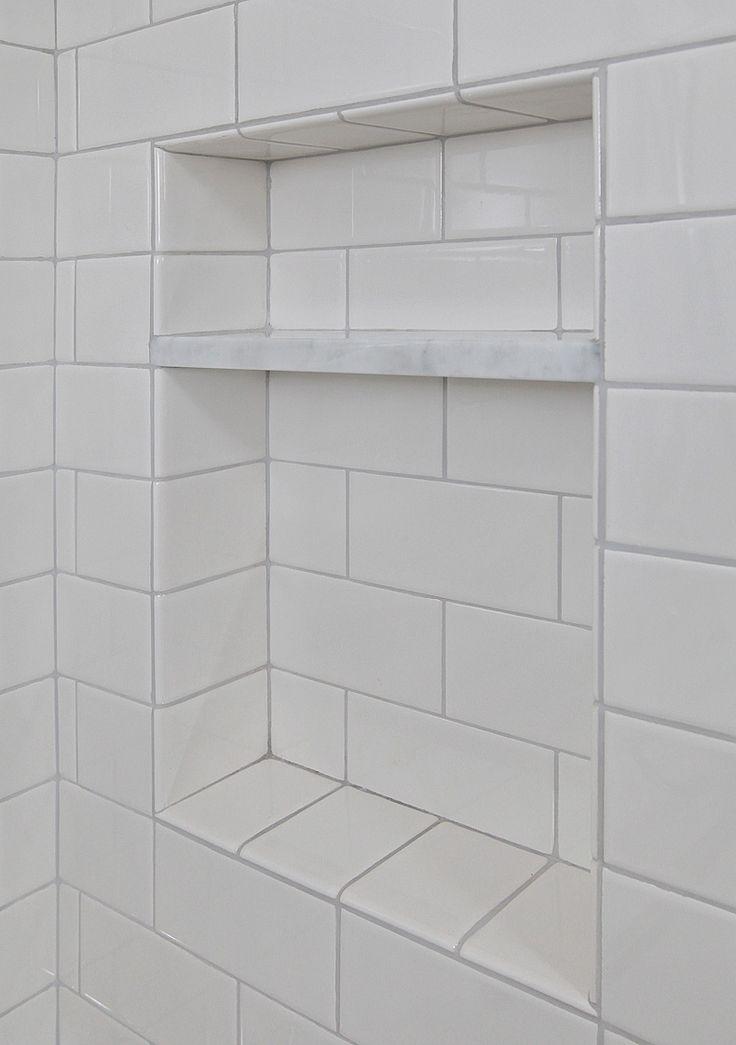 Shower Cubby Bathroom Beauty Pinterest Marble Shelf