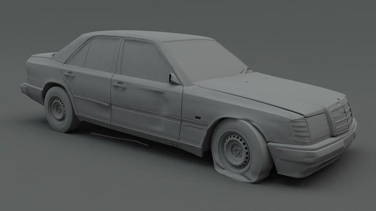 ArtStation - Abandoned Mercedes, Rory Björkman