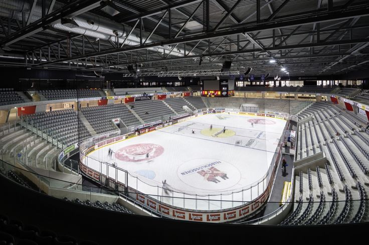 Stades de Bienne, Biel (Switzerland) Stades de Bienne, Biel (Schweiz) #luminaire #lighting #beleuchtung #licht #icehockey #eishockey