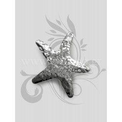Μεταλλικό διακοσμητικό αστερίας από σφυρήλατο φύλλο αλουμινίου. Διάσταση: 5Χ5,5cm