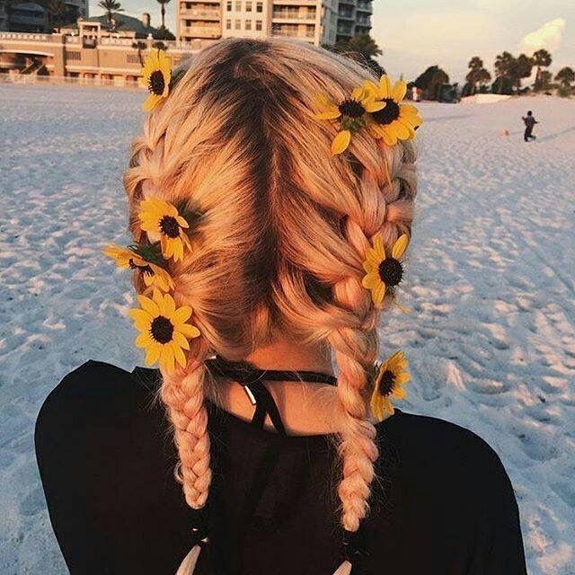Boxer braids with flowers – #boxer #boxerbraids #braids #flowers