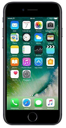 Apple iPhone 7 Smartphone débloqué 4G (Ecran : 4,7 pouces – 32 Go – iOS 10) Noir: Double appareil photo grand angle et téléobjectif 12 Mpx…