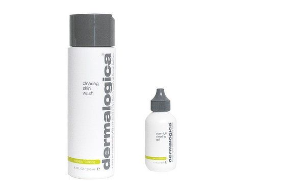 """If you're a sufferer of adult acne, instead of shaking your fist at the sky and asking """"GOD, WHY AM I STILL GETTING PIMPLES AT <insert age here>??"""", give this combo from #Dermalogica a go. We've been road testing it for the past couple of weeks and it's seriously effective. The clearing skin wash is $49.50 and the overnight clearing gel is $62. dermalogica.com.au"""