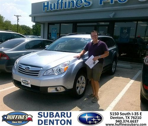 Thank you to Ben Perry on your new 2012 Subaru Outback from Tim Spencer and everyone at Huffines Subaru Denton!