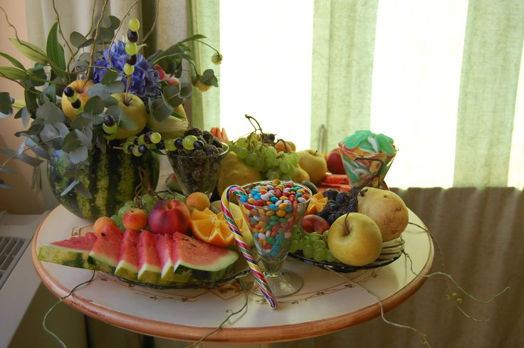 sweets &  watermelon centerpiece