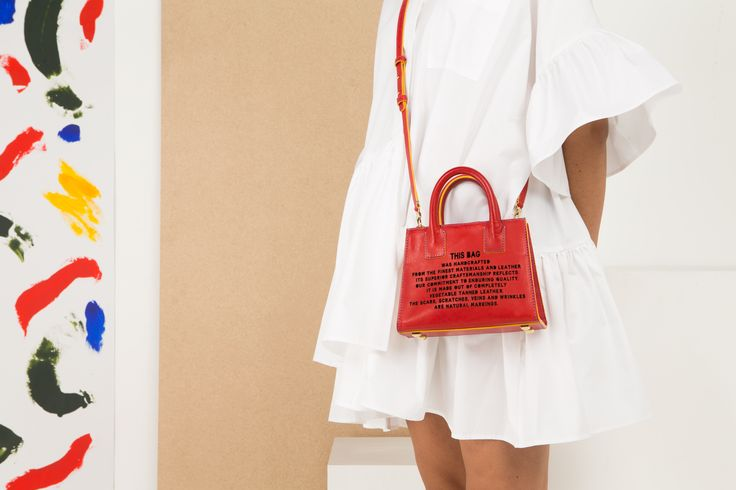 Marlow London's Mini Tote in Red - part of the 'This Bag' collection
