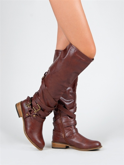 Buckled Tall Boots / Bamboo $30
