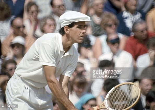 Frew McMillan of South Africa in action during the Men's Doubles Final at Wimbledon, circa July 1967. McMillan and and his countryman Bob Hewitt defeated Roy Emerson and Ken Fletcher of Australia 6-2, 6-3, 6-4.