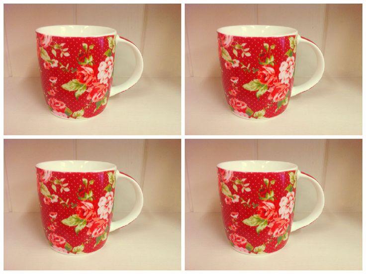 24 best red mugs images on Pinterest   Mugs set, Mug and Bone china