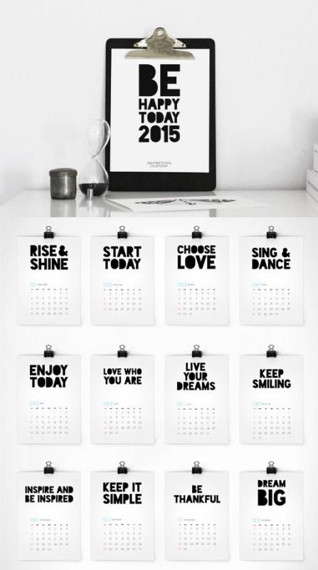 2015 printable calendar from Colour Moon. Love the inspiration on each page!                                                                                                                                                                                 Más