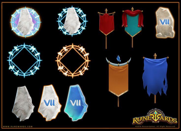 "ArtStation - UI elements for ""Runewards"", Svesla Tasla"