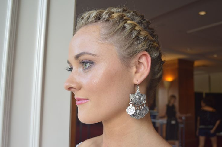 Braided crown hair up style