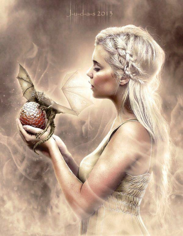 Pin By Sarka Hladikova On Draci 2 Game Of Thrones Artwork Digital Art Girl Valyrian