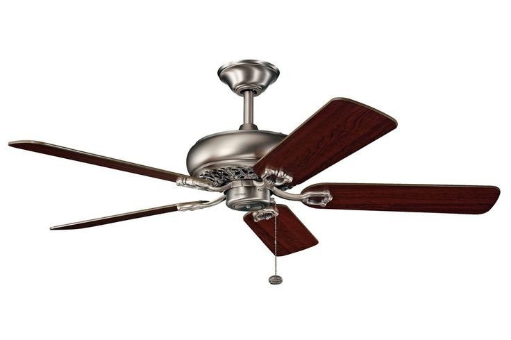 "Kichler 300118 52"" Indoor Ceiling Fan with Blades Downrod and Pull Chain Antique Pewter Fans Ceiling Fans Indoor Ceiling Fans"
