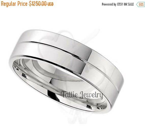 ON SALE Mens Platinum Wedding Bands,Womens Wedding Rings,Platinum Matching Wedding  Rings,