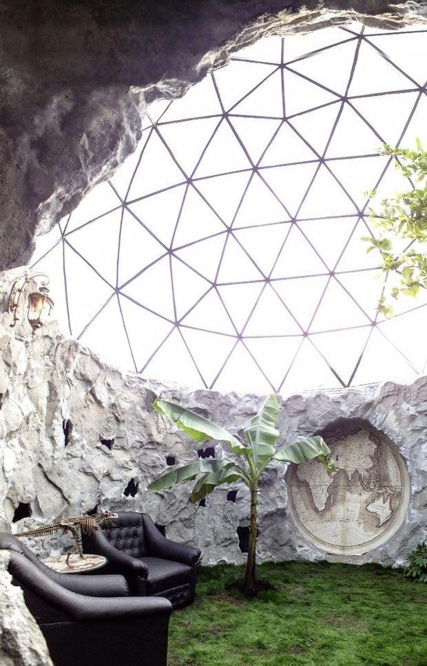 Dôme de verre par l'entreprise Biodome Systems, réunion plein air