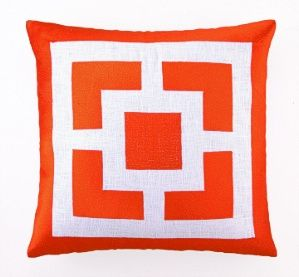 Peking Handicraft Pillow   Palm Springs Brock Embroidered Pillow Orange    $99.99 Per Pillow # Part 35