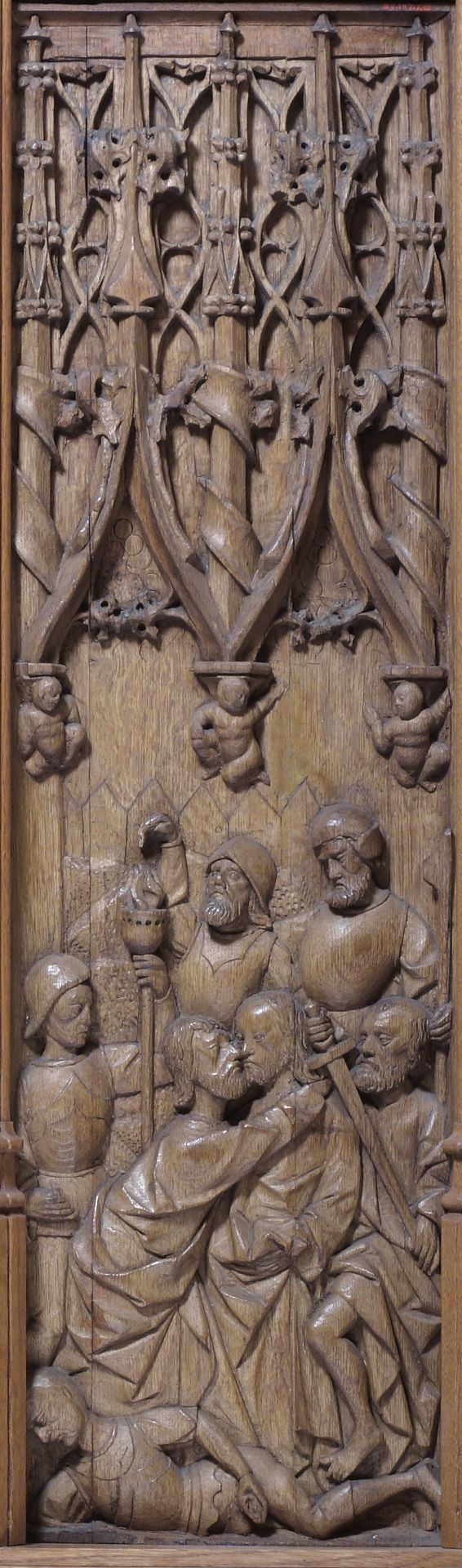 Panel with the Kiss of Judas via The Cloisters   Medium: Oak The Cloisters Collection, 1950 Metropolitan Museum of Art, New York, NY