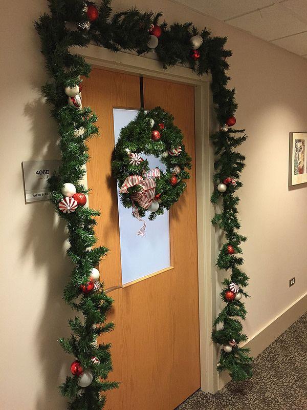 2014 UC Door Number 2 Stylish embellishments! Wreath and garland! LOVE IT. & 16 best UC Holiday Doors images on Pinterest | Door numbers Fiesta ...