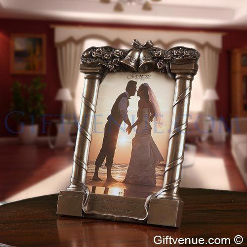 Genesis fine arts Bronze wedding frame - gift for wedding couple. wedding day gifts