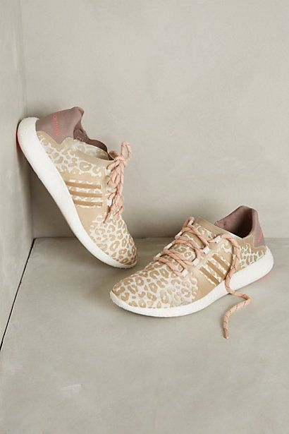 Adidas by Stella Mccartney leopard blush sneakers. #nudesneakers