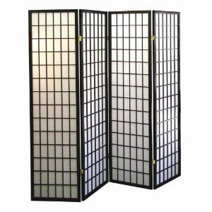 Amazon.com - 4-panel Shoji Screen Room Divider, Black - Chinese Room