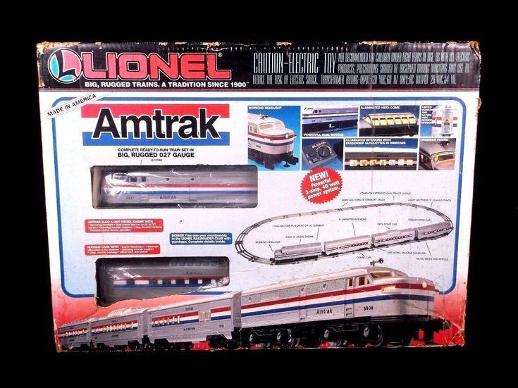 New sealed rare 1995 lionel amtrak 027 gauge train set