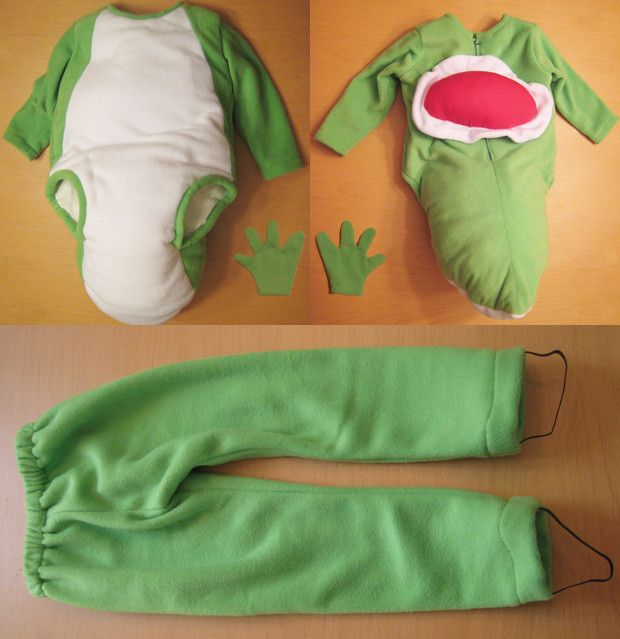 BabaGeek: Halloween 2009 Custom Yoshi Mascot and Baby Mario Costumes Finished -Destructoid