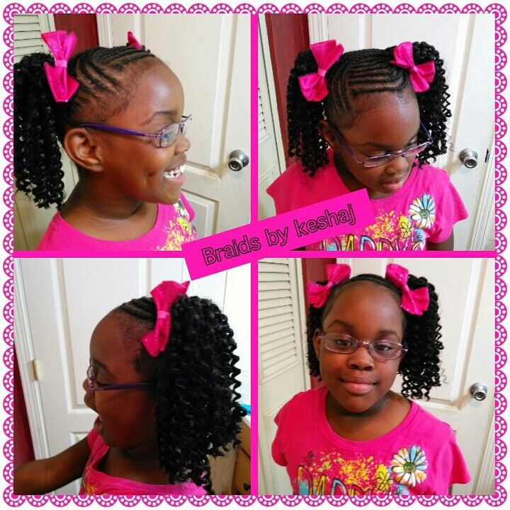 Crochet Hair Styles For Little Girl : Freetress water wave Crochet braids for little girls Pinterest ...