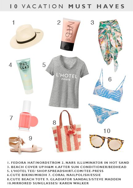 10 VACATION MUST HAVES