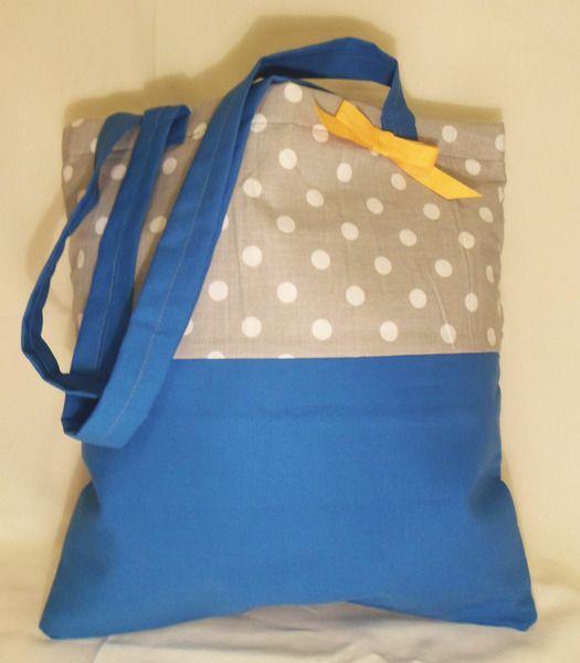 Lunch Bag Kropki z ceratką na DaWanda.com