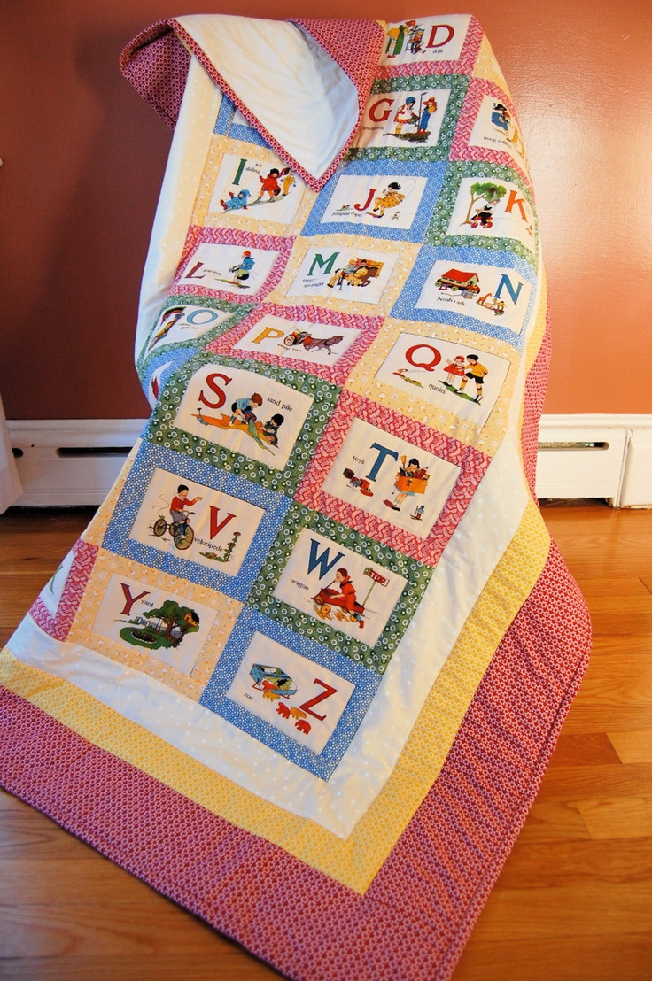 Alphabet Quilt, Vintage,American Jane Blocks