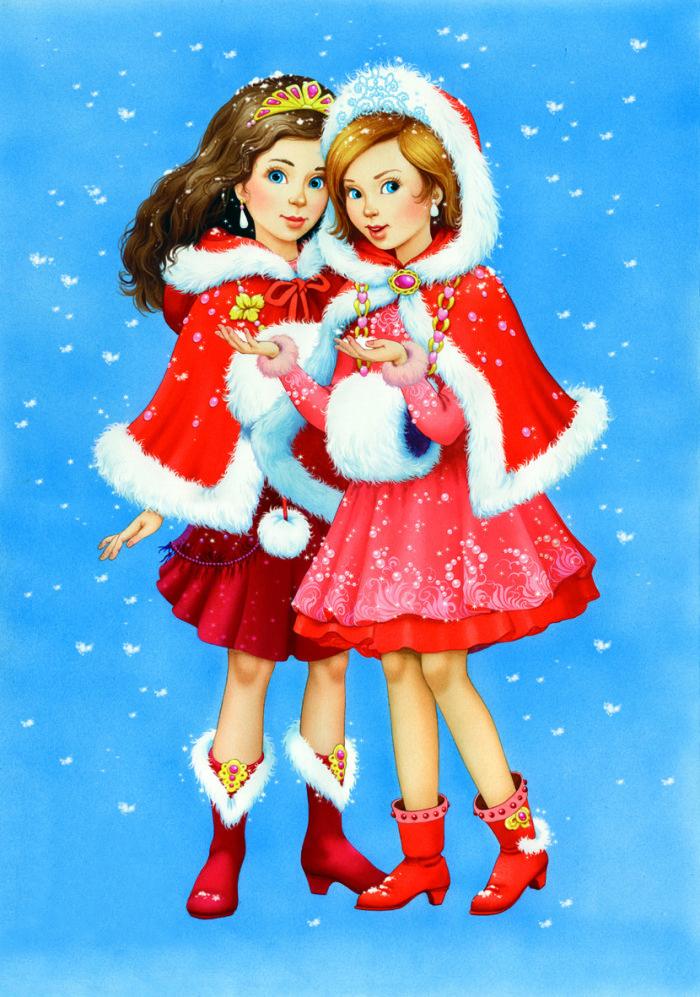 подруги на новый год картинки женский костюм