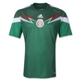 2014 Mexico Home Green Replica Soccer Jersey Shirt