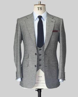 Thom Sweeney Grey Suit - love the horseshoe waistcoat