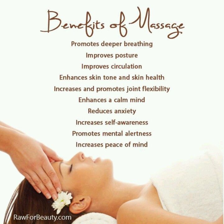 Massage has so many benefits!