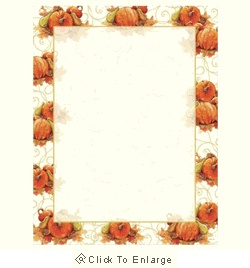 Pumpkin Swirl Fall & Autumn Laser & Inkjet Printer Paper - $12.99