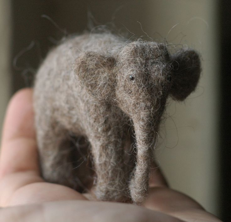 victor dubrovsky's needle felted elephant