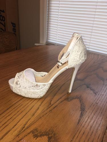c94f2af9be0 Champagne Wedding Shoes Rhinestone Stiletto Heels Bridal Sandals ...
