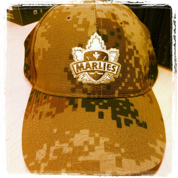 Giveaway from last season for Canadian Forces Appreciation Day - Marlies Camo Cap.